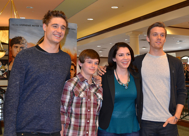 Max Irons, Chandler Canterbury, Stephenie Meyer and Jake Abel