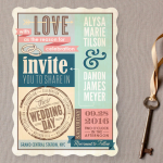 Rustic Wedding Invitation by Minted
