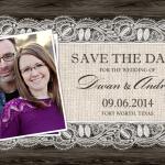 Custom Save the Date Postcard Template