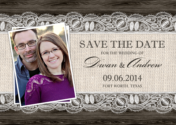 Custom Save the Date Postcard Template