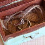 box for rings at wedding