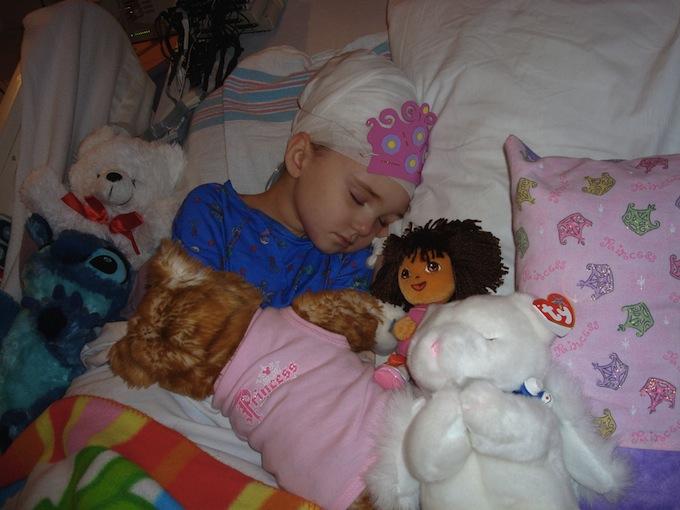 Gabby in the hospital for Hemispherectomy