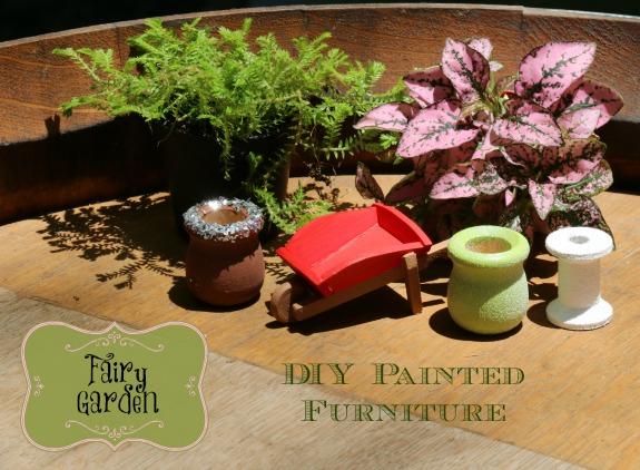 DIY Painted Fairy Garden Furniture | MommaDJane