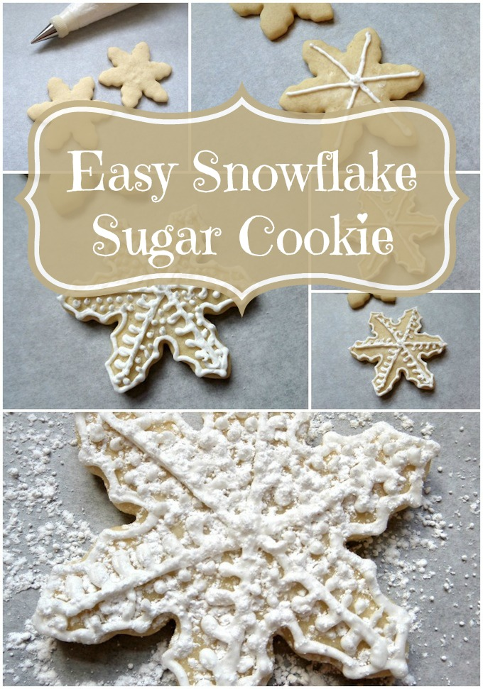 Easy Snowflake Sugar Cookie from MommaDJane featured on Belle of the Kitchen