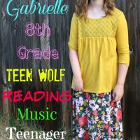 Gabby's 1st day of 8th grade