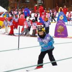 kids learn to ski
