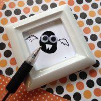 Bat Thumbprint: Halloween Kid Craft