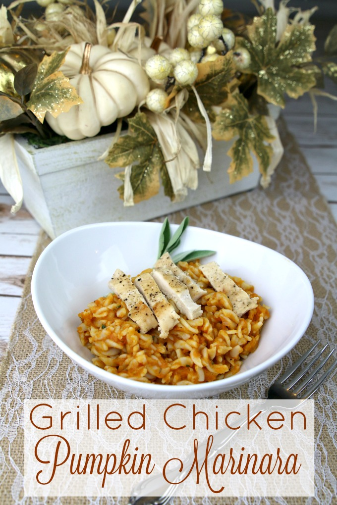 Grilled Chicken Pumpkin Marinara Recipe - MommaDJane