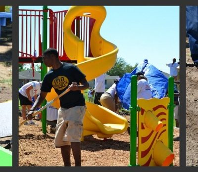 KaBOOM, Let's Play, New Orleans, Playground Build