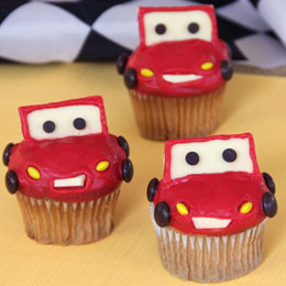 Cars 2, Disney, Lightening McQueen Cupcakes, recipe