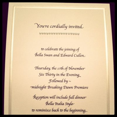 Breaking Dawn Party Invites – Twilight Saga