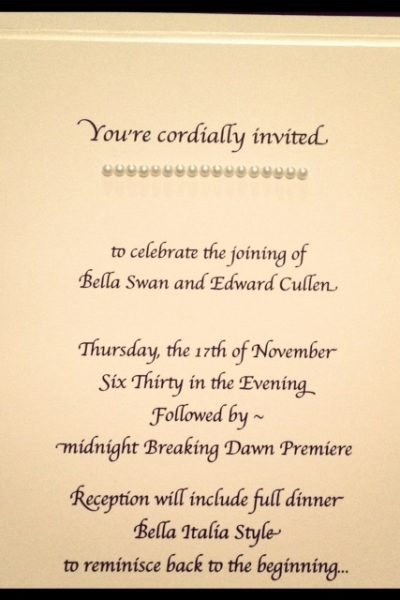 Breaking Dawn Party Invites – Twilight Saga