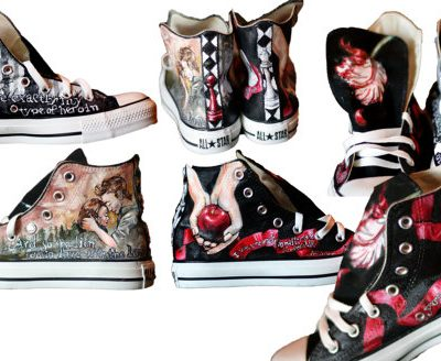 Hand Painted Twilight Saga Converse