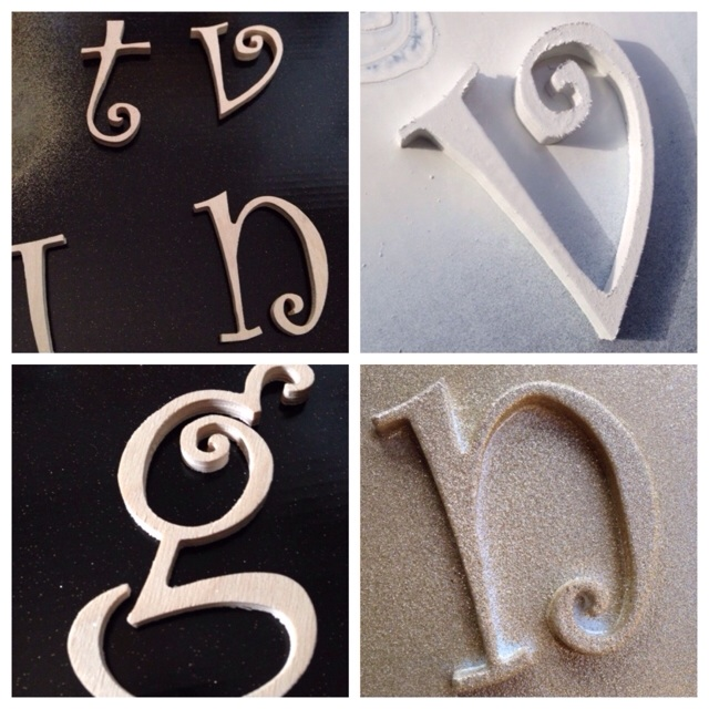 Customizable Glitter and painted  Letter