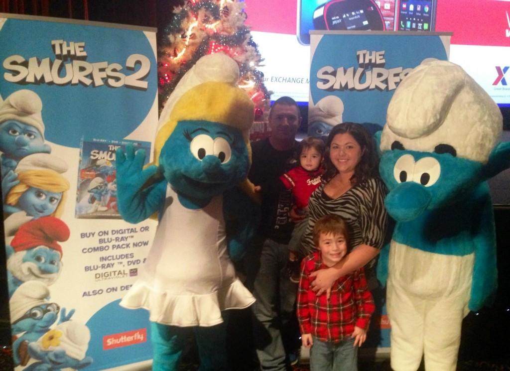 Smurfs at Ft Hood - Brenton Spuhler and family E4 Specialist