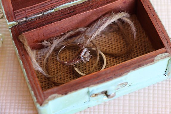 box for rings at wedding
