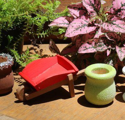 DIY Painted Fairy Garden Furniture