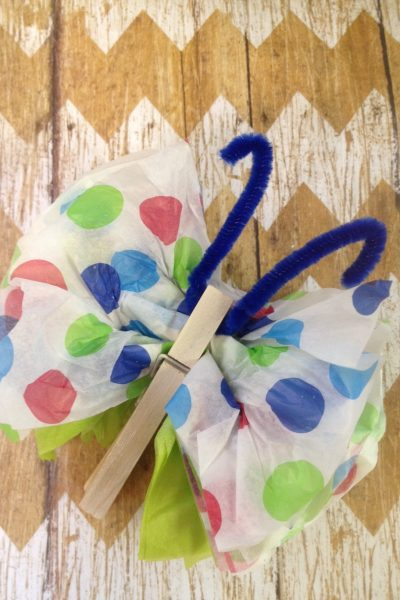 DIY Tissue Paper Butterflies