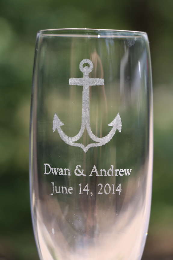Personalized Chapagne Flutes for Wedding