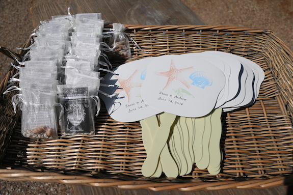 Personalized Wedding Favors in Basket