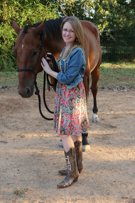 Cowgirl Boots and horse