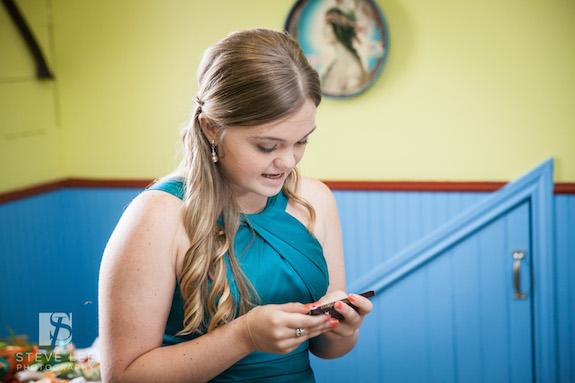 Teen Daughter Toast at Wedding