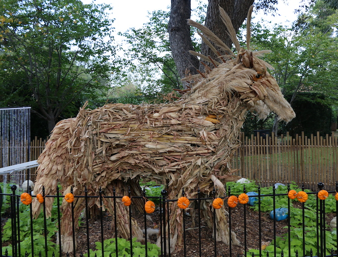 horse made of hay