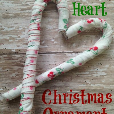 How to Make Scrap Fabric Heart Christmas Ornaments