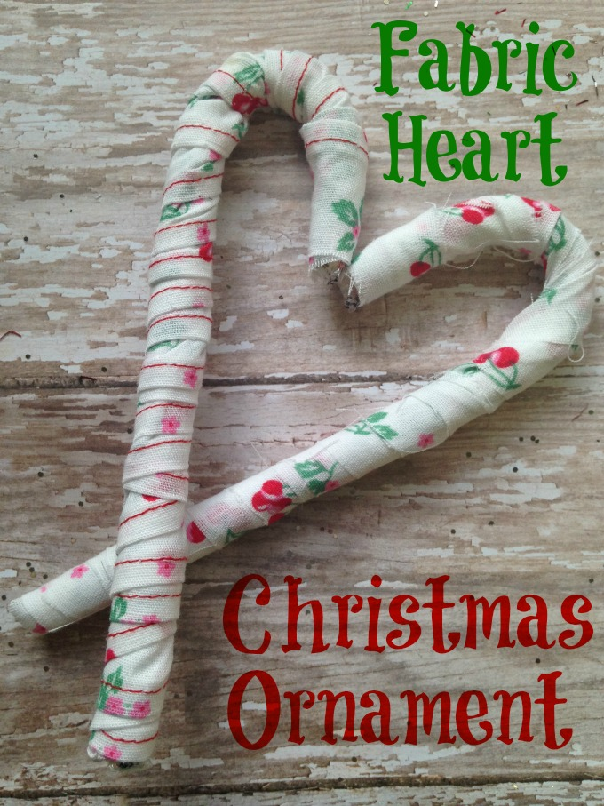Fabric Heart Christmas Ornament