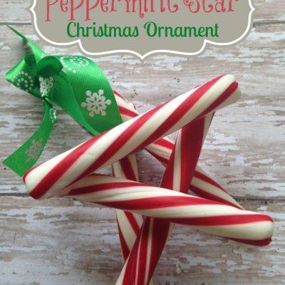DIY Peppermint Star Christmas Ornament