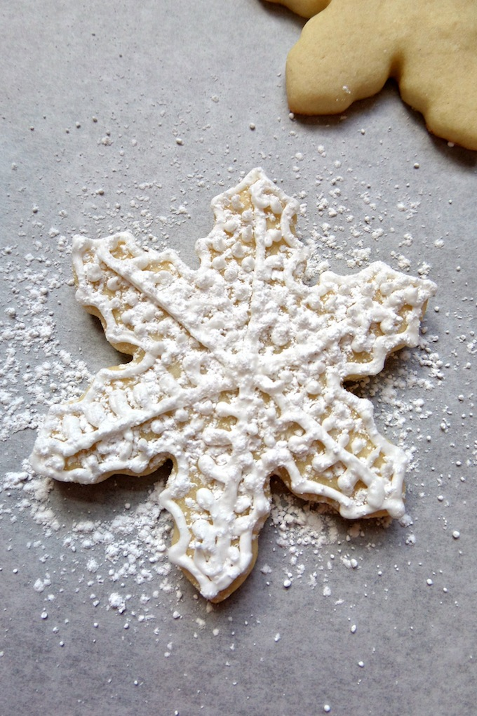add powder sugar to cookie