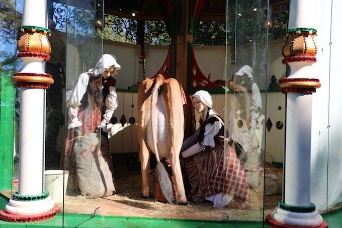 Eight Maids a Milking Exhibit