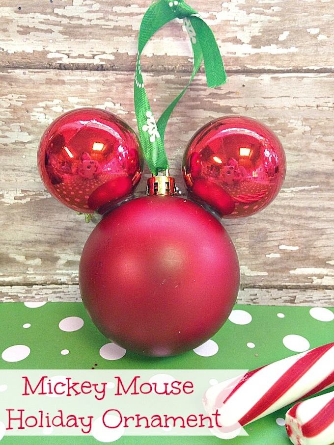 DIY Mickey Mouse Ornament