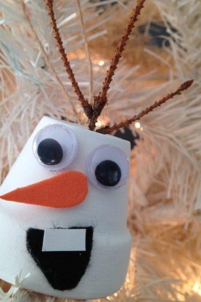 DIY Disney's Frozen Olaf Christmas Ornament