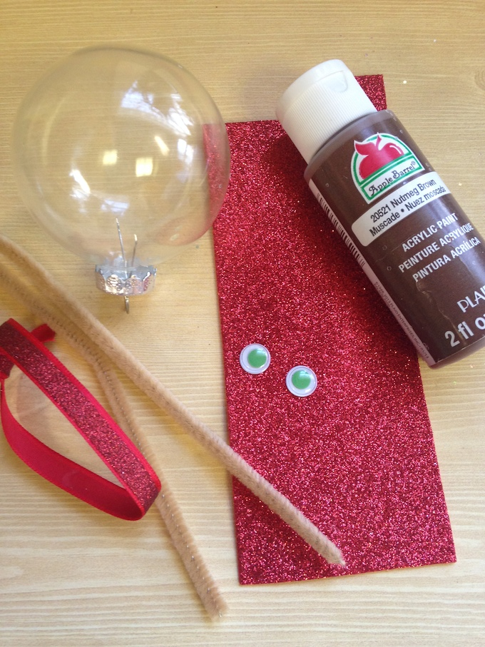 Reindeer Christmas Ornament Supplies