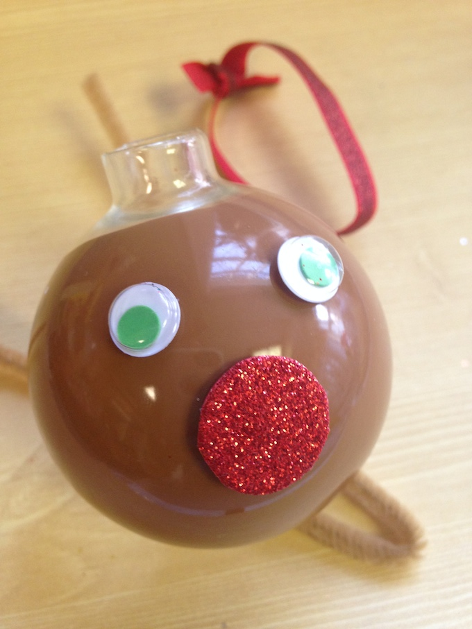 How to make a reindeer ornament