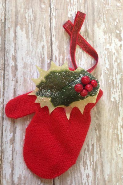 Miniature Mitten Christmas Ornament