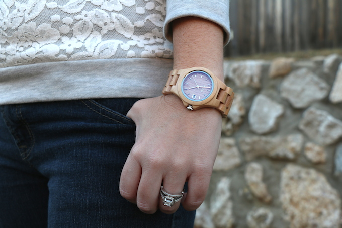 fashionable wooden watch