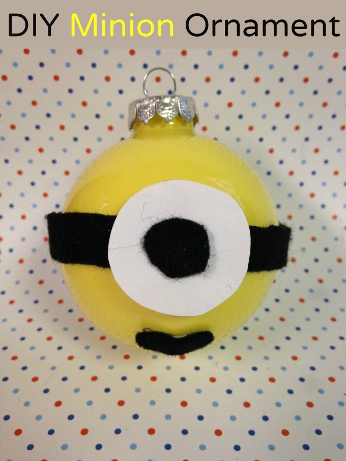 do your children love minions if so take a look below at how to craft your own minion holiday ornament perfect for displaying on your tree this year - Minion Christmas Ornament