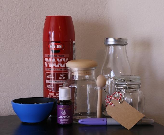 Supplies for Homemade Bath Salts