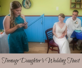 Teen daughter's wedding toast to mom and stepdad