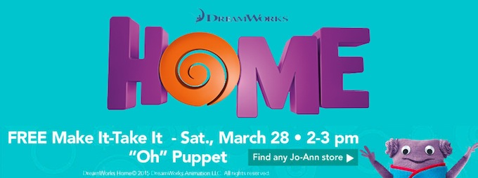Jo-Ann Make it Take It Event for DreamWorks HOME
