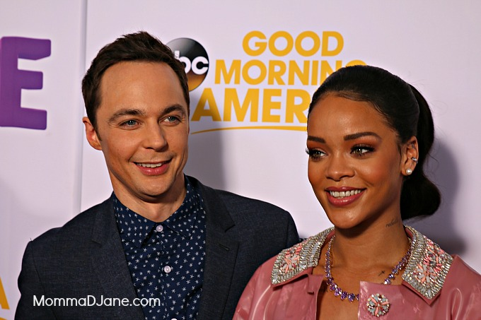 Jim Parsons and Rihanna