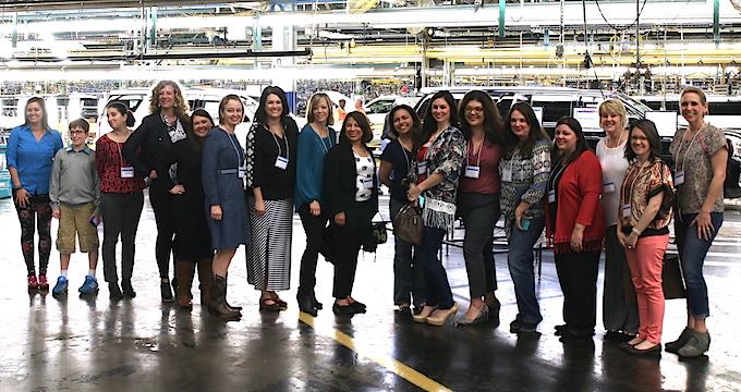 DFW Bloggers at GM Plant