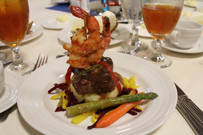 shrimp and steak lunch from Sheraton