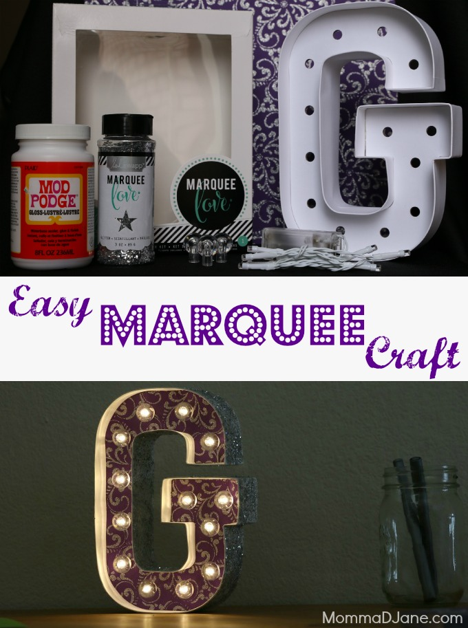 Easy Marquee Craft