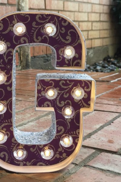 Easy Marquee Letter Craft
