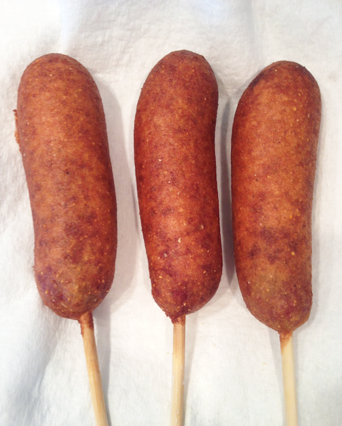 Chicken Sausage Corn Dog In-Process #15
