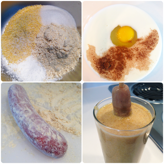 Gluten Free Corn Dog Process