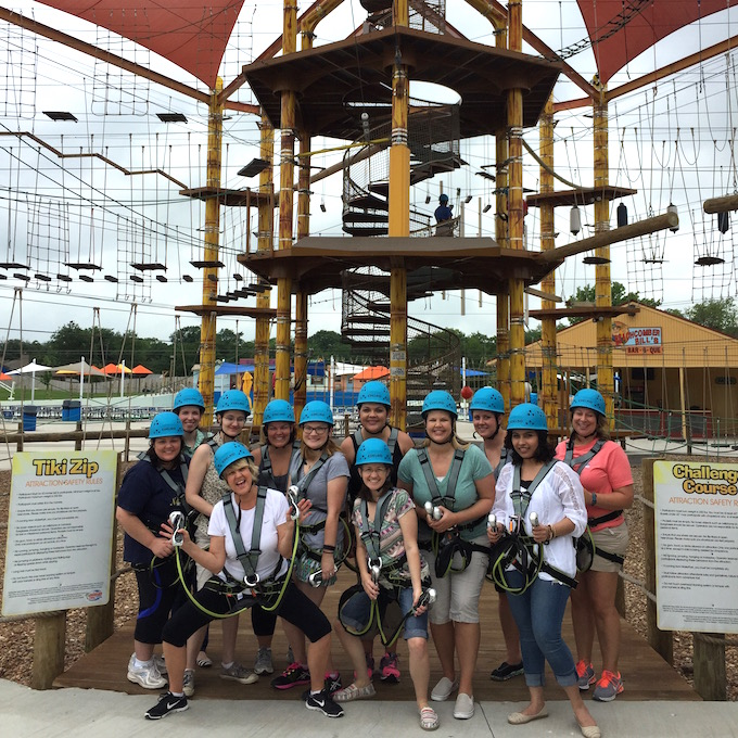 DFW Bloggers on Ropes Course
